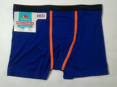 Boys Fruit Of The Loom 1 Pair Boxer Briefs Micro-Mesh X-Large 18-20 (1601)