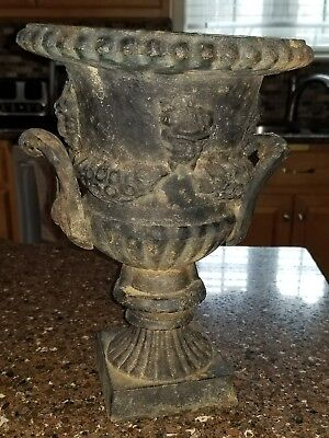 Small Vintage Cast Iron Urn