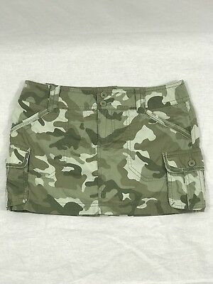 Limited Too Girl's Youth Camouflage Skirt With Built-In Boy Short Size 10 1/2