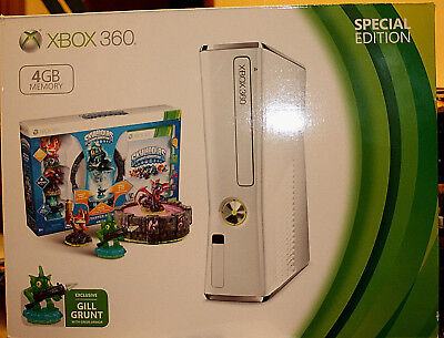 Xbox 360 Slim White 4Gb Skylanders Special Edition Bundle -  New In The Box