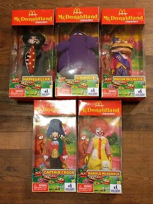 SET of 5 New MCDONALD'S MCDONALDLAND Characters Mayor McCheese Ronald Hamburglar