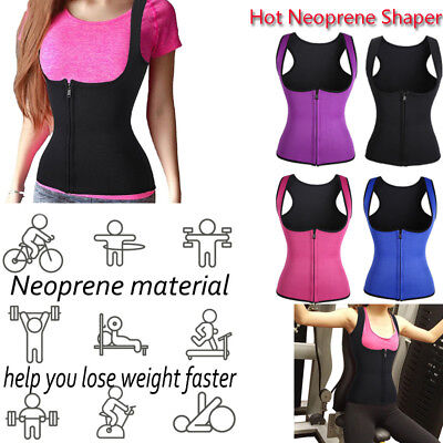 Sweat Sauna Body Shaper Women Slimming Vest Heat Neoprene Gym Trainer HX