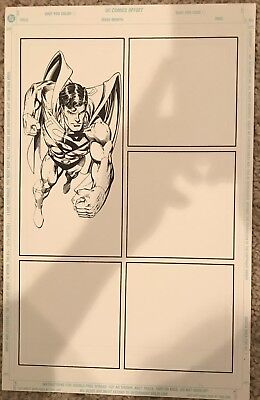 Original Dan Jurgens Superman Comic Art Sketch Panel Print
