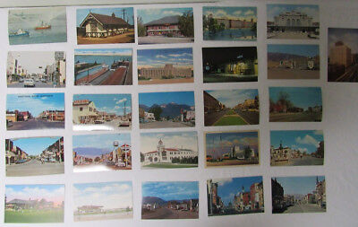Vintage lot of postcards ~ 26 Postcards from the 1950s to '70s - Historic