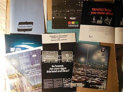 Crouse-Hinds Company, 1971-76 reports, booklets, ads, traffic control, lighting