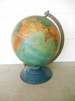 "Vintage 1948 Replogle Three D 12"" Globe Made in USA"