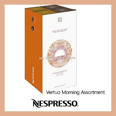 New Nespresso Vertuo Morning Assortment 4 Sleeves Coffee Capsules Pods Limited