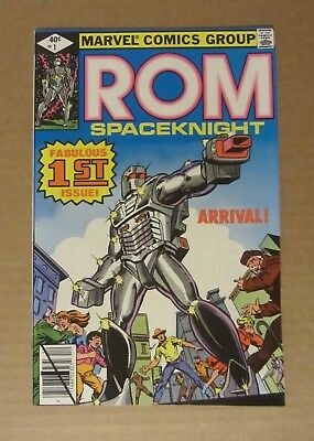 ROM #1 1979 NM details (spine wrinkle)...They arrived like this from the printer