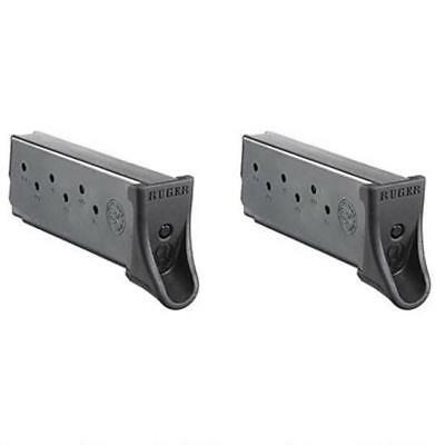 Ruger EC9s/LC9s 7Rd Mag 9mm Luger Polymer Extended Base Plate Steel Body 2PK