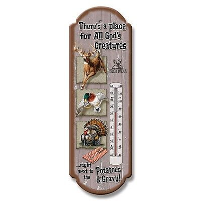 Classic HUNTER Tin Thermometer Hunting God's Creatures Free Shipping USA