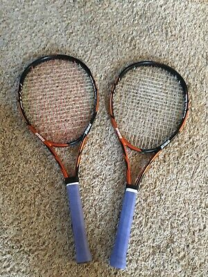 2 Prince Tour Pro 100 Racquets - 4 1/4 grips - Very Good Condition!