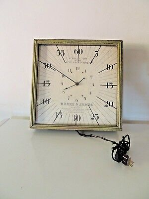 Antique 1890s BURKE & JAMES MANUFACTURES PHOTOGRAPHIC CAMERA ACC Electric Clock
