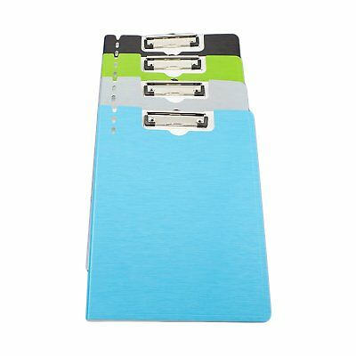 4pc Colorful Plastic Clipboards Document Holders Folder File Office Supplies