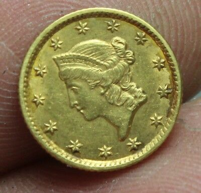 1854 Gold One Dollar Type 1 Coin