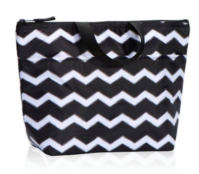 NIP Thirty One 31 Thermal Tote Black Chevron no monogram 3000