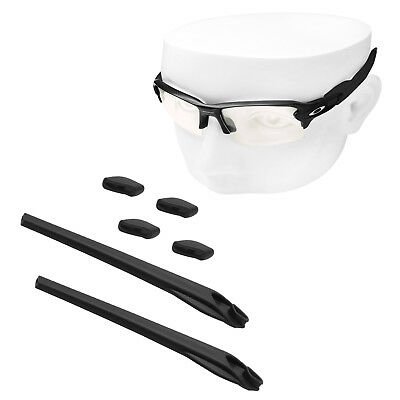 Black Silicone Kit Replacement Ear Socks & Nose Piece for-Oakley Flak 2.0 XL