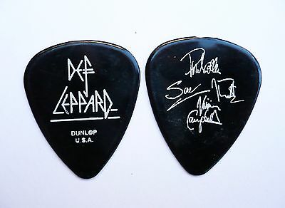 Def Leppard Guitar Pick! 4 Signatures Glossy Black Guitar Pick!