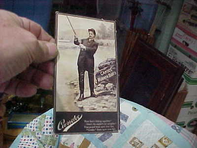 Vintage Candee Rubber Boots Postcard Fly Fishing