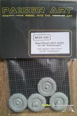 Panzer Art 35135 Road Wheels with Chains for VW Kübelwagen   1:35