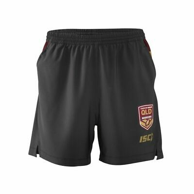 QLD Maroons Origin 2018 ISC Players Training Shorts Sizes S-5XL & Kids Sizes!