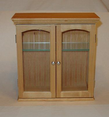 "Pine Curio Cabinet/Display for table top or wall 10-1/2"" x 10-1/2"""