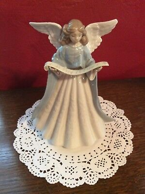 Lladro Retired Figurine - Blue Angel Tree Topper # 5719