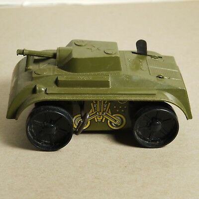 Vintage Marx Mar Wind Up Toy Tin And Plastic Army Tank