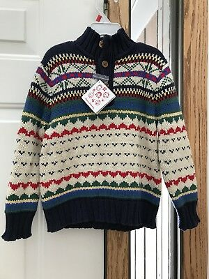 Boys HANNA ANDERSSON SWEATER 110 NWT