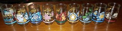 POKEMON Welch's Vintage Jelly Jar Collection of 9 Squirtle Charmander