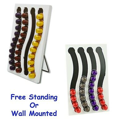 Coffee Capsule Holder Wall mounted or free stand, Nespresso Caps size 40 pc pods