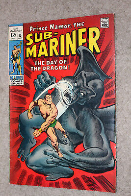 Sub-Mariner Marvel Comic Book No. 15, July 1969