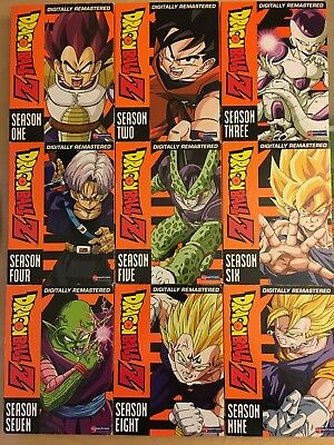 Dragon Ball Z Complete Series + Movie Lot DVD Box Set Season 1 2 3 4 5 6 7 8 9