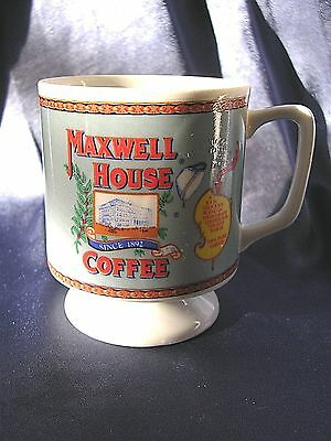 Vtg. Maxwell House Logo Footed COFFEE CUP 'GOOD TO THE LAST DROP' China NUC  #30