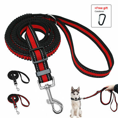 Stretch Elastic Bungee Dog Leash Lead For Dogs Tactical Training Black Red