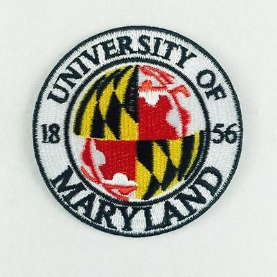 """University of Maryland Terrapins Vintage Embroidered Iron On Patch 2.5"""" x 2.5 A1"""