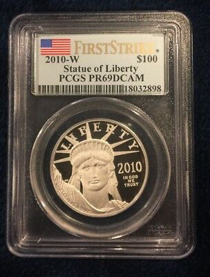 2010-W First Strike $100 American Eagle Statue of Liberty PR69DCAM