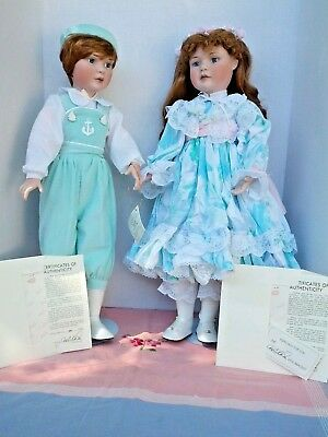 """MARIE OSMOND Twin Series NATHAN NICOLE 23"""" COA, BOX - Never Played With"""