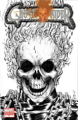 Ghost Rider #1 Sketch Cover Original Art CGC ready SDCC Marvel