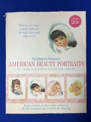 Northern Tissue American Beauty Portraits (4) With Envelope 1960's