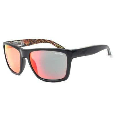 0456eb5c9b5d2 Arnette AN 4177-17 Witch Doctor 2230 6Q Gloss Black Red Mirror Mens  Sunglasses