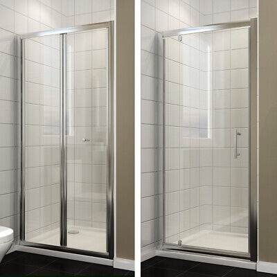 Elegant Framed Bifold/Pivot Shower Door 6mm Glass Screen 700-1000mm Free Postage