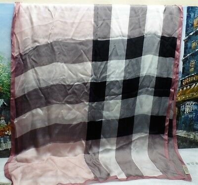 Burberry Lightweight Check Silk Scarf - $450