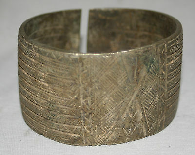 AFRICAN TRIBAL Kota Ornate Bronze Currency Anklet/Currency