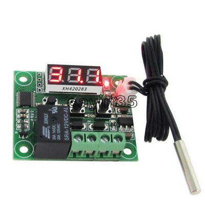 2PCS W1209 -50-110°C 12V thermostat Temperature Control Switch Sensor Module uk