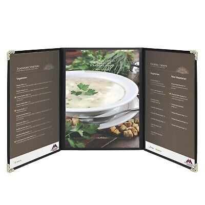 "Menu Covers 9.4"" x 12.4"" Restaurant Triple Stitched Folder"