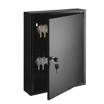 Key Cabinet Steel Lock Box with 60 capacity Colored key Tags & Hooks for Home