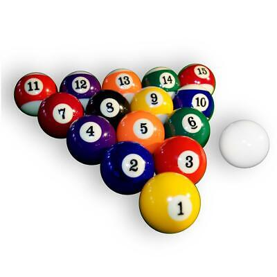 Billardkugeln Billard Pool Kugeln Billardball Set hochglanzpoliert Ø 57,2 mm