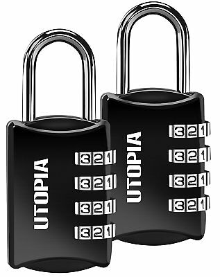 4 Dial Combination Lock (2 Pack) - Resettable Combination - Zinc Alloy Utopia