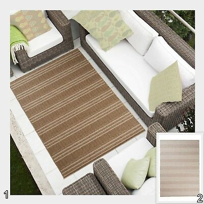 Area Rug Sisal High Quality Stripes Pattern Flatweave Different Sizes & Colours