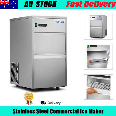 Portable Commercial Ice Cube Maker Machine Stainless Steel Free Shipping AU